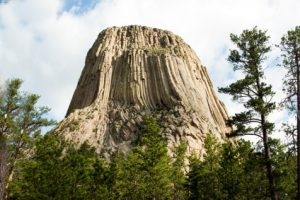 View of Devils Tower National Monument in Wyoming